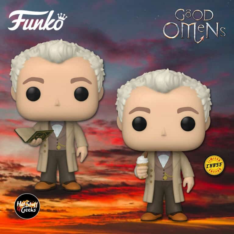 Funko Pop! Television: Good Omens - Aziraphale with Book With Chase Variant Funko Pop! Vinyl Figure,