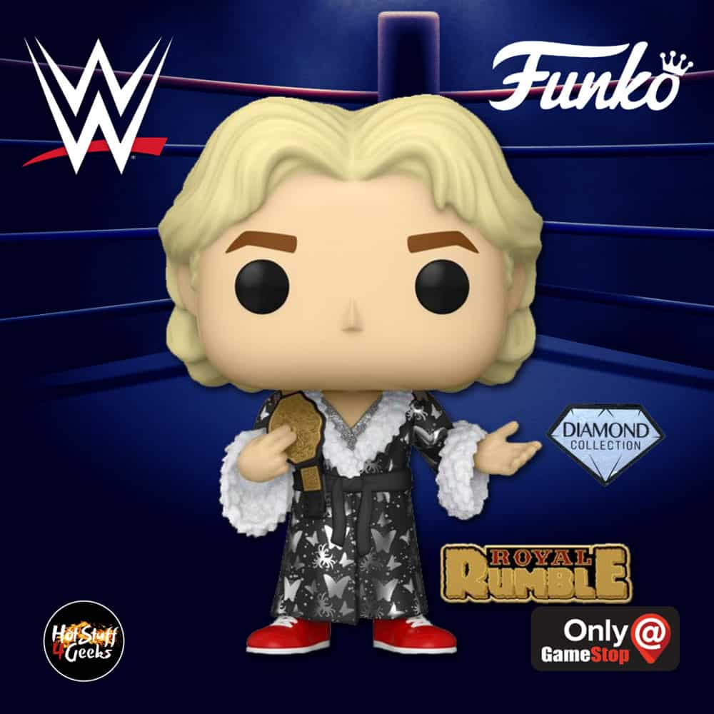 Funko Pop! WWE: Royal Rumble 92: Ric Flair With Pin Diamond Collection Funko Pop! Vinyl Figure - GameStop Exclusive