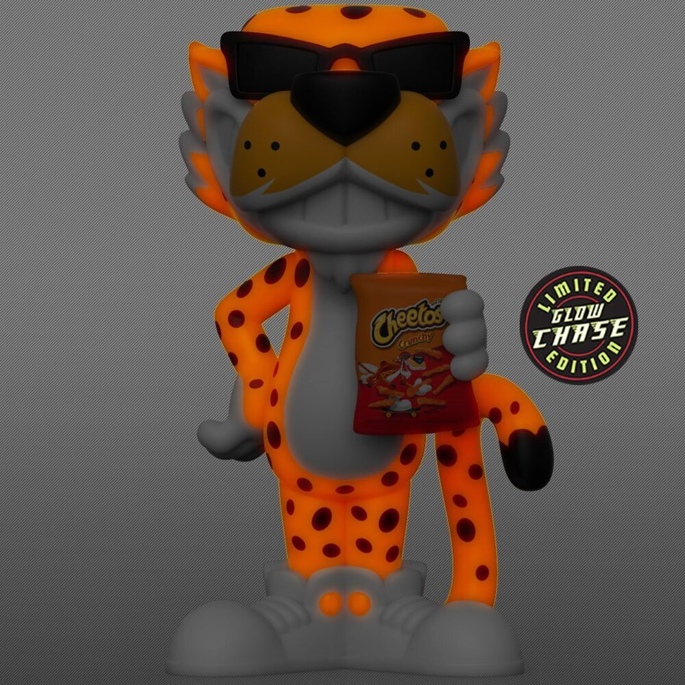 Funko Vinyl Soda: Cheetos - Chester Cheetah Vinyl Soda Figure With Glow In The Dark (GITD) Chase Variant