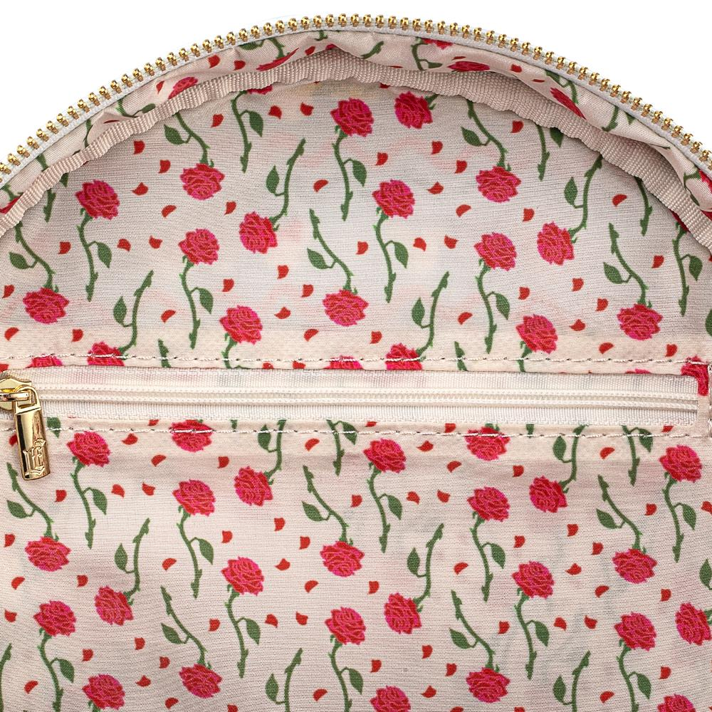 Loungefly Beauty and the Beast Rose Pin Collector Backpack