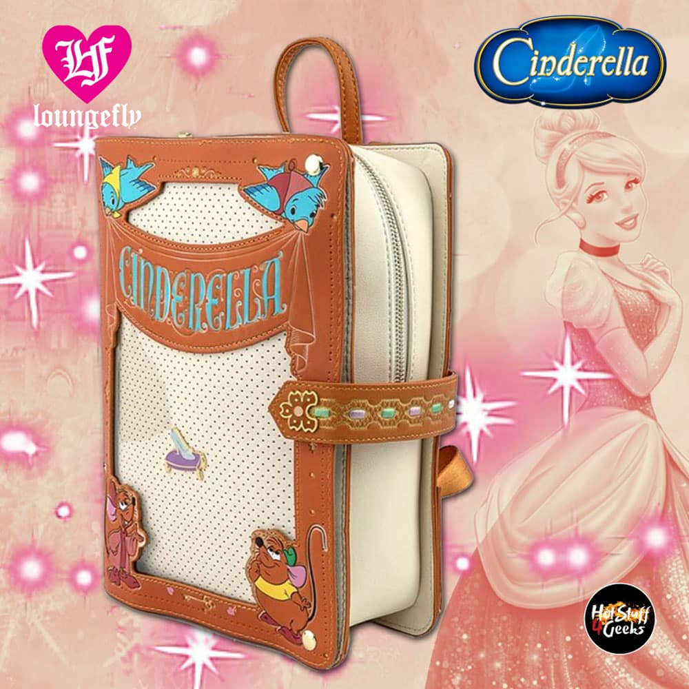 Loungefly Disney Cinderella Book Pin Collector Backpack
