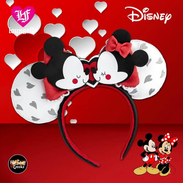 Loungefly Disney Mickey And Minnie Mouse Love Ears Headband