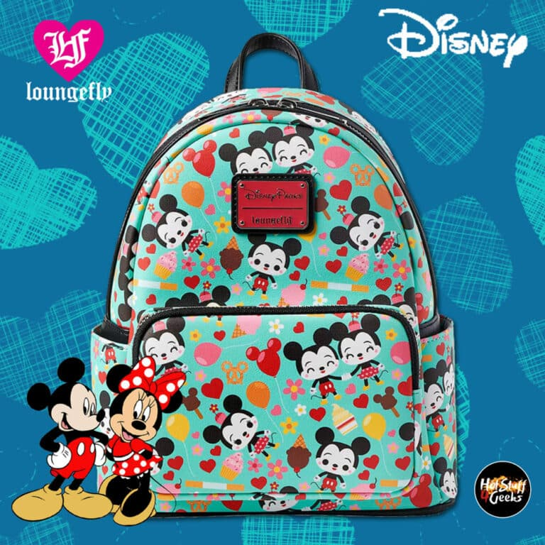 Loungefly Disney Mickey and Minnie Mouse Disney Parks Food Mini Backpack