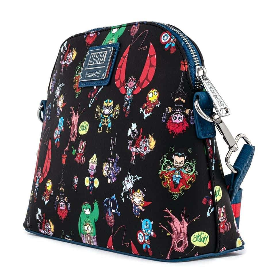 Loungefly Marvel Avengers Chibi Group Crossbody Purse