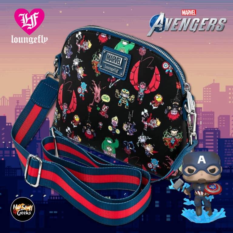 Loungefly Marvel Avengers Chibi Group Crossbody Purse