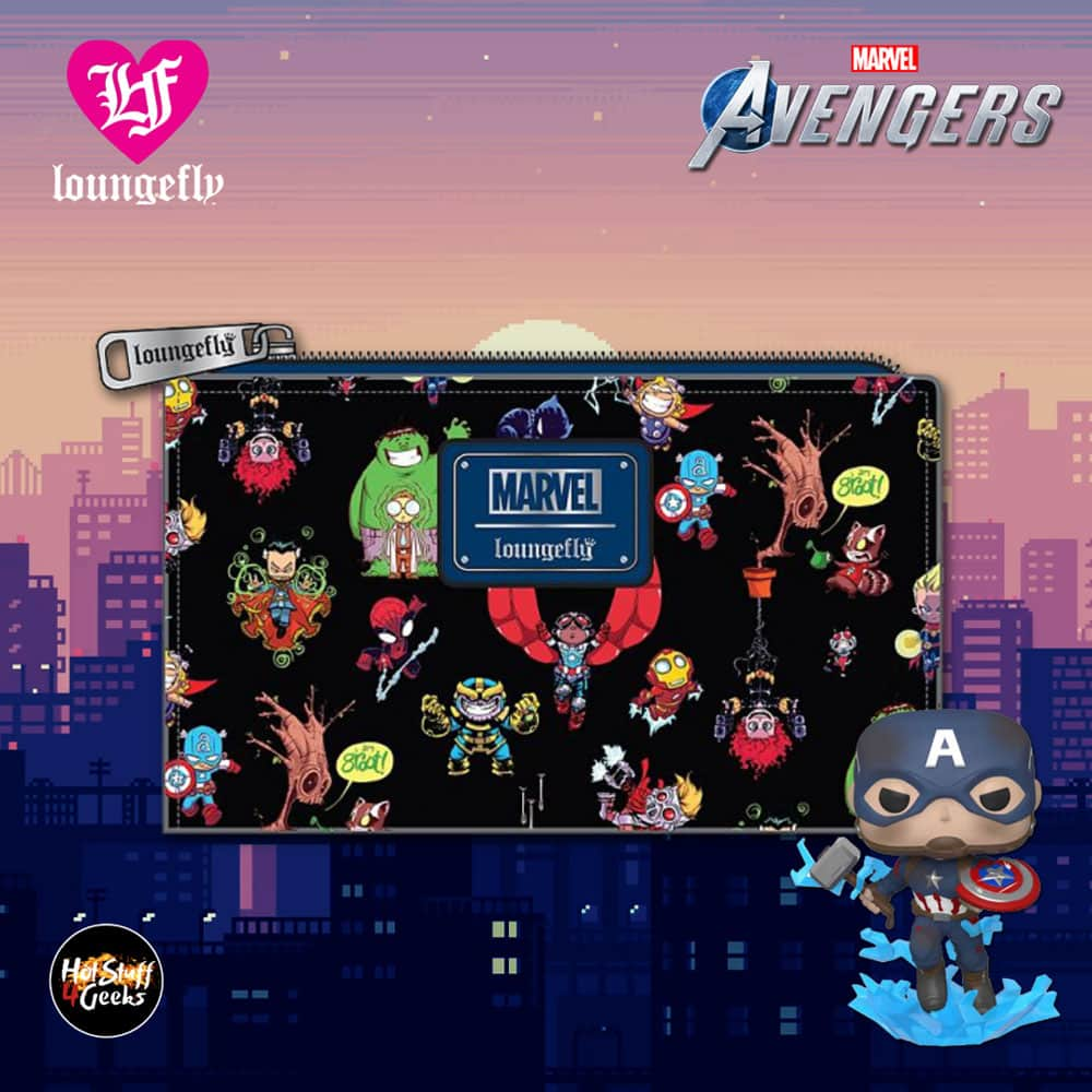 Loungefly Marvel Avengers Chibi Group Flap Wallet