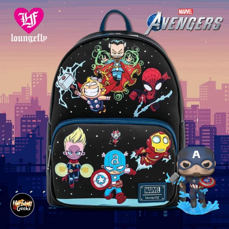 Loungefly Marvel Avengers Chibi Group Mini-Backpack