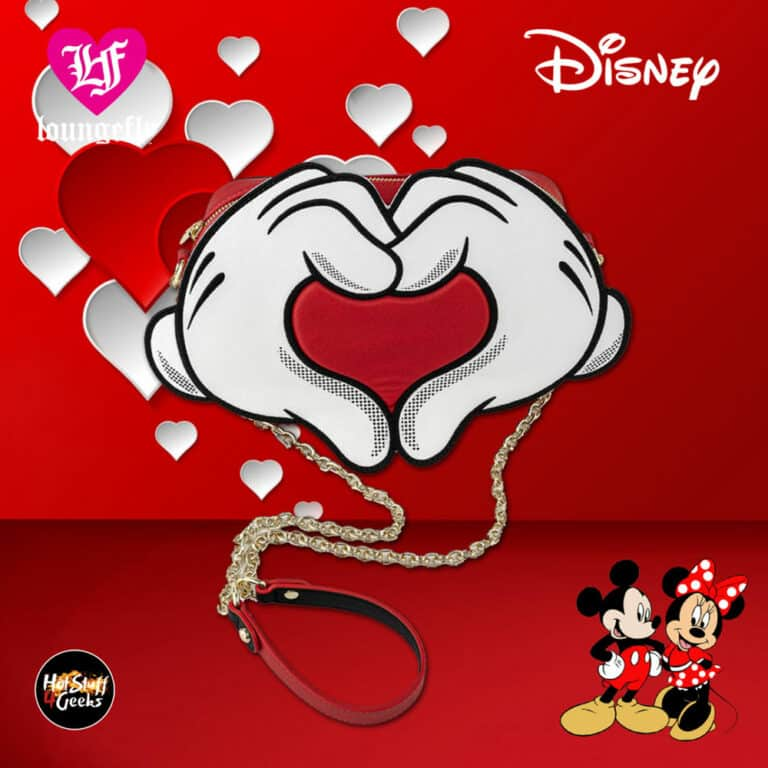 Loungefly Mickey Mouse Heart Hands Crossbody Purse