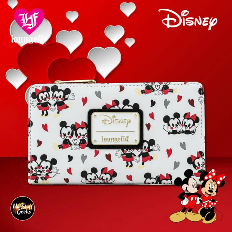Loungefly Mickey and Minnie Mouse Hearts Flap Wallet