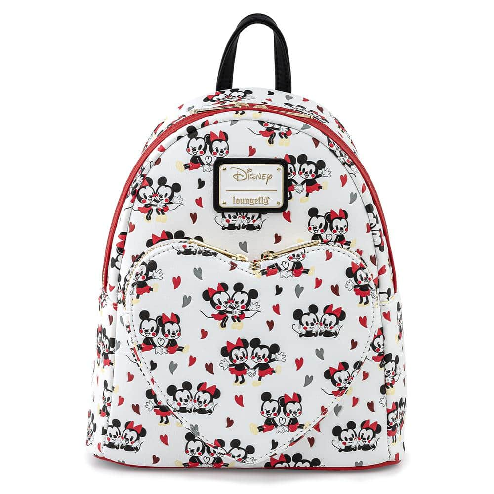 Loungefly Mickey and Minnie Mouse Hearts Mini-Backpack