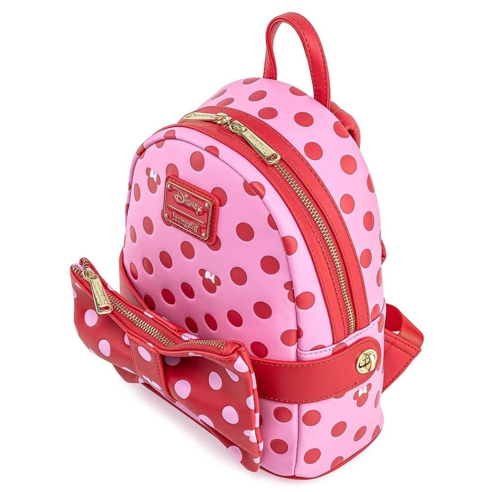 Loungefly Minnie Mouse 2-in-1 Pink Polka Dot Bow Fanny Pack & Mini-Backpack