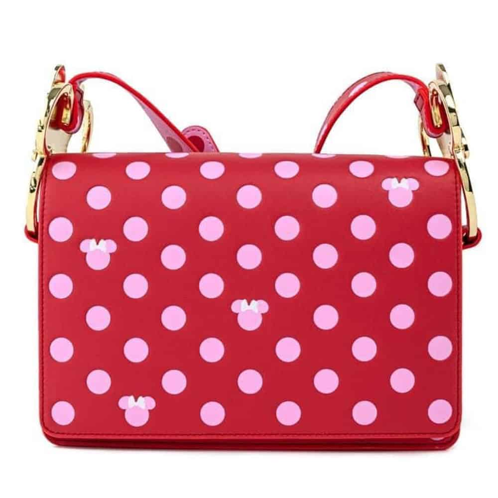 Loungefly Minnie Mouse Pink Polka Dot Crossbody Purse