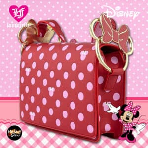 Loungefly Minnie Mouse Pink Polka Dot Crossbody Purse