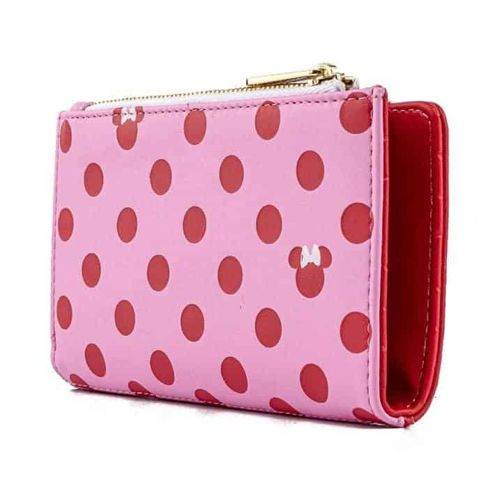 Loungefly Minnie Mouse Pink Polka Dot Flap Wallet