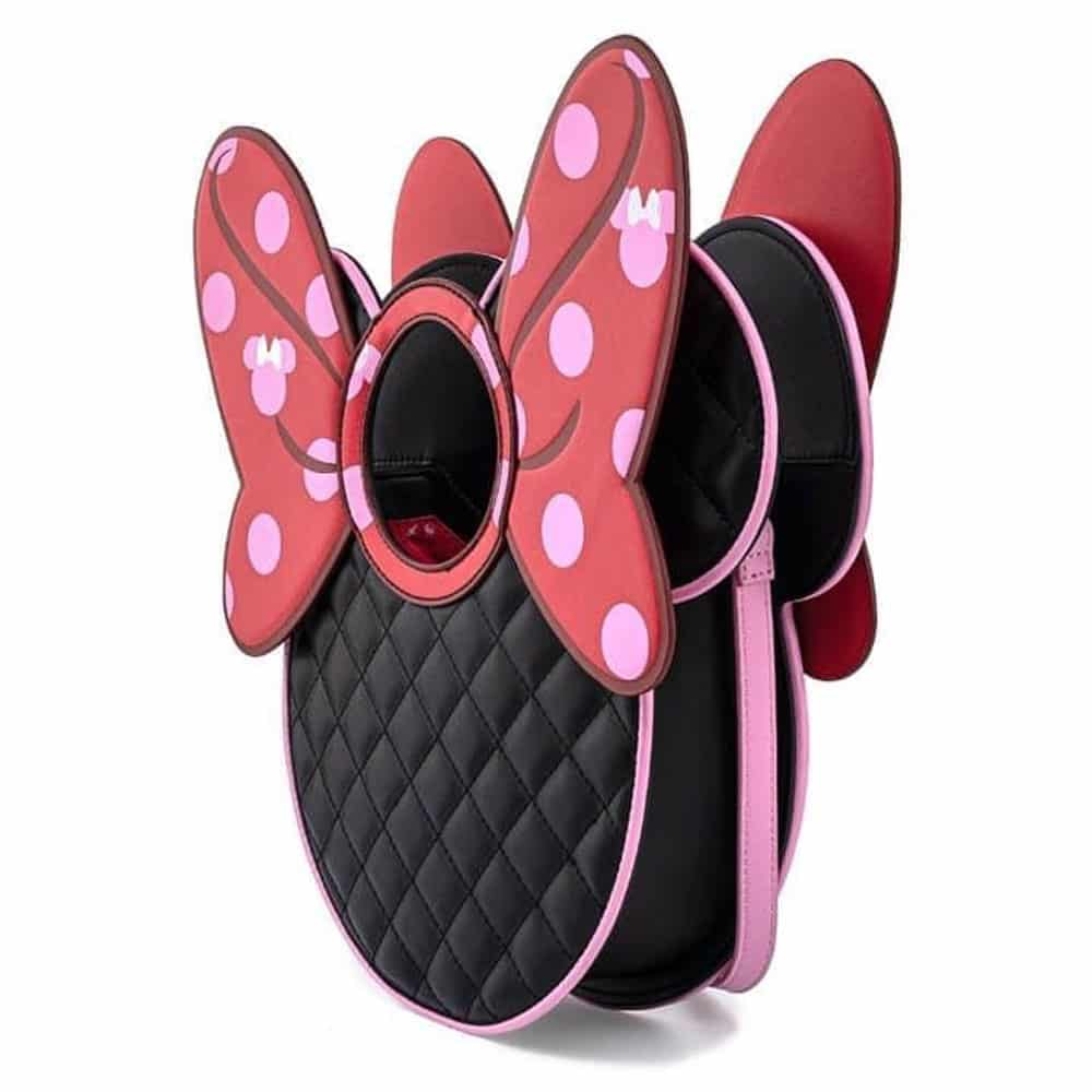 Loungefly Minnie Mouse Quilted Bow Crossbody Purse