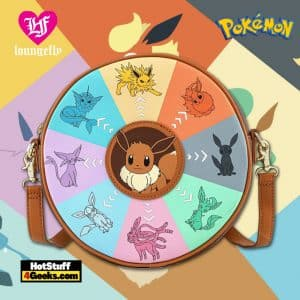 Loungefly Pokemon Eevee Evolutions Crossbody Canteen Purse