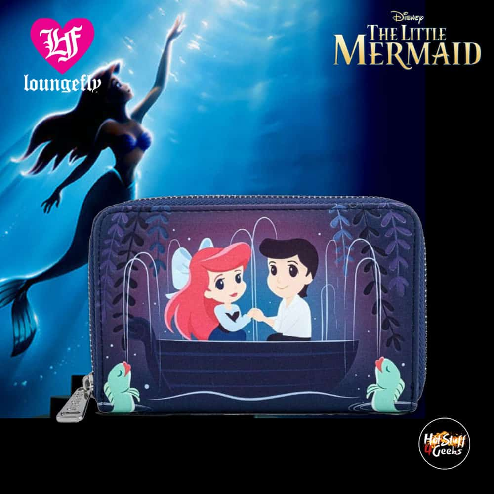 Loungefly The Little Mermaid Kiss the Girl Scene Zip-Around Wallet