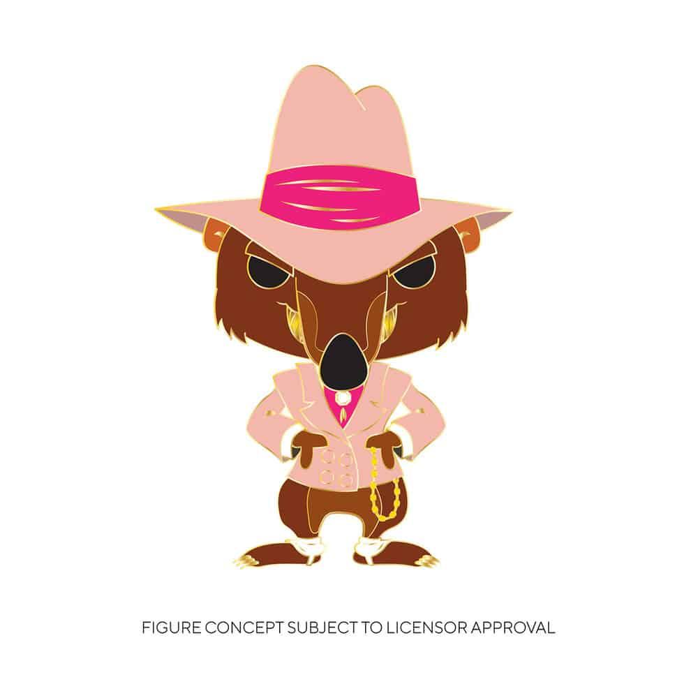 Funko Disney Who Framed Roger Rabbit - Toon Patrol Smarty Weasel Large Enamel Pop! Pin