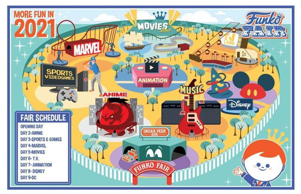 Funko Fair 2021 schedule calendar