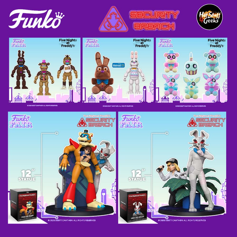 Funko Five Nights at Freddy's (FNAF) Action Figures, Statues and Plush - Funko Fair 2021