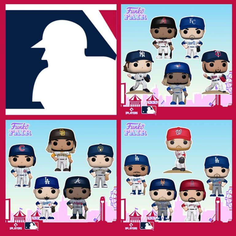 Funko MLB: Major League Baseball - Angels Anthony Rendon, Nationals Stephen Strasburg, Diamondbacks Ketel Marte, Royals Whit Merrifield, Brewers Christian Yelich, Twins Jose Berrios, Blue Jays Vladimir, Braves Ozzie Albies, Mets Pete Alonso, Yankees Gerrit Cole, Padres Fernando Tatís Jr., Cubs Javier Baez, Dodgers Corey Seager, Dodgers Cody Bellinger and Dodgers Mookie Betts Funko Pop! Vinyl Figures