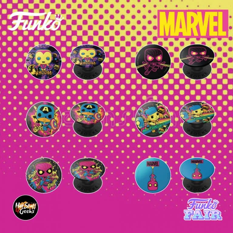 Funko Marvel Black Light - Pop Sockets - Funko Fair 2021