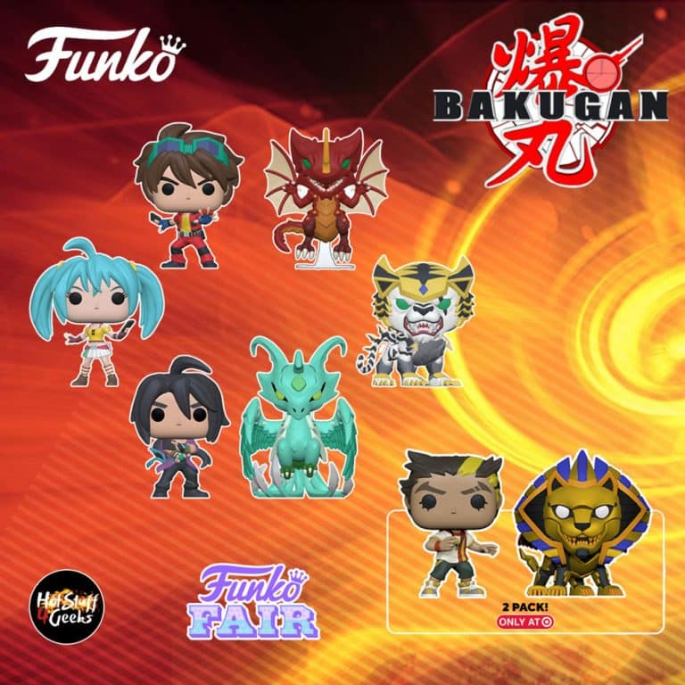 Funko POP! Animation: Bakugan - Runo, Shun, Dan, Tigrerra, Storm Skyress, Drago, and Ajit & Pharol 2-Pack Funko Pop! Vinyl Figures - Funko Fair 2021