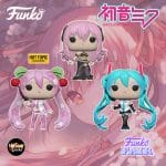 Funko POP! Animation: Vocaloid - Hatsune Miku V4X, Mergurine Luka V4X and Hatsune Miku (Cherry Blosson) Funko Pop! Vinyl Figures - Funko Fair 2021