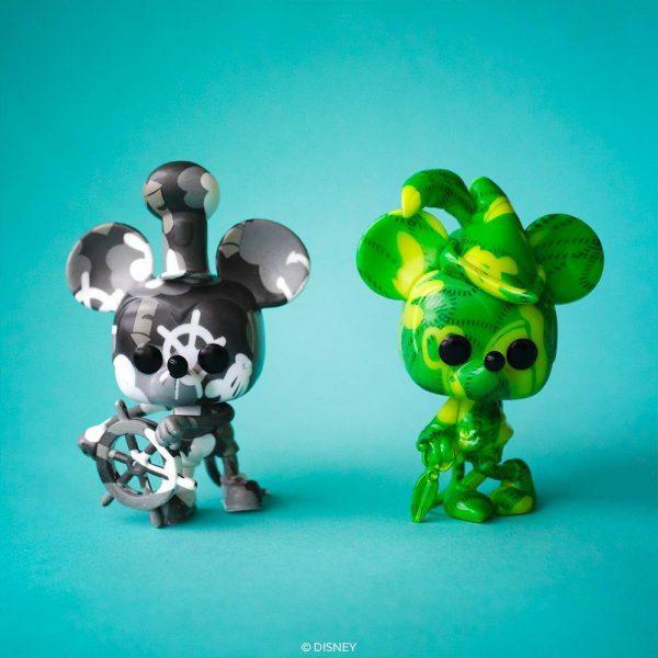 Funko POP! Artist Series: Disney Mickey Mouse - Conductor Mickey, Brave Little Tailor, Firefighter Mickey, Steamboat Willie, Apprentice Mickey Funko Pop! Vinyl Figures - Walmart Exclusive - Toy Fair 2021