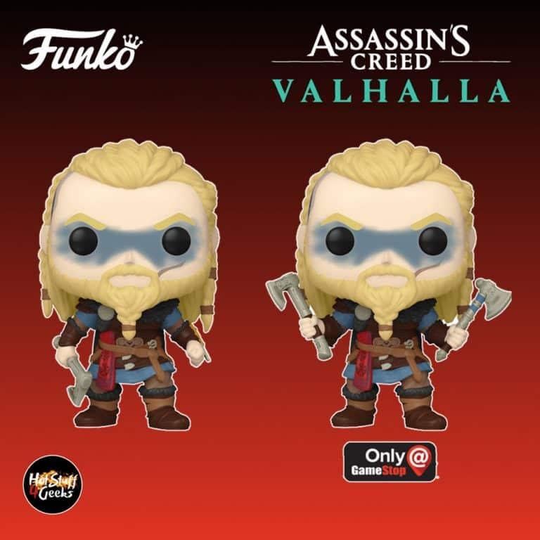 Funko POP! Games: Assassins Creed Valhalla - Eivor and Eivor With Double Axe (GameStop Exclusive) Funko Pop! Vinyl Figures