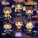 Funko POP! Movies: The Goonies - Sloth, Data with Glove, Chunk, Mikey with Map, Sloth with Ice Cream (Walmart Exclusive) and Brand (Target Exclusive) Funko Pop! Vinyl Figures - Funko Fair 2021