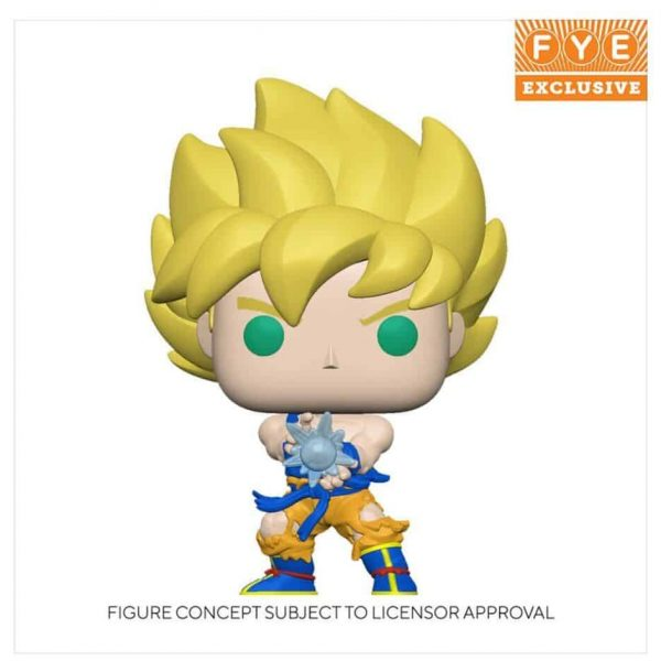 Funko Pop! Animation: Dragon Ball Z - Super Saiyan Goku with Kamehameha Wave Glow-In-The-Dark Funko Pop! Vinyl Figure - Fye Exclusive