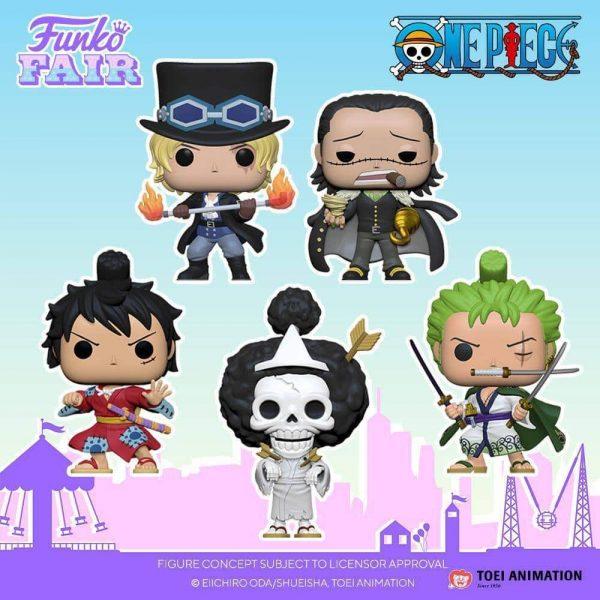 Funko Pop! Animation: One Piece - Sabo, Luffy in Kimono, Brook, Crocodile, Roronoa Zoro, Luffy (Gear 4th) and Luffy in Kimono Funko Funko Pop! Vinyl Figures