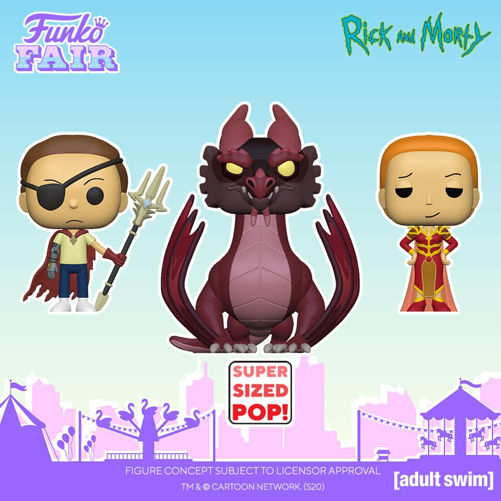 Funko Pop! Animation: Rick and Morty - Balthromaw 10-Inch, Queen Summer, Rick with Glorzo, Morty with Glorzo, Evil Morty, Rick with Funnel Hat, and Morty with a Rick Doll Funko Pop! Vinyl Figures