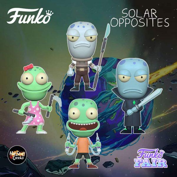 Funko Pop! Animation: Solar Opposites - Korvo, Yumyulack, Jesse and Terry Funko Pop! Vinyl Figures