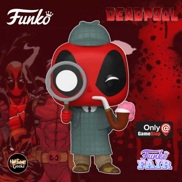 Funko Pop! Marvel: Deadpool 30th Anniversary - Sherlock Deadpool Funko Pop! Vinyl Figure - GameStop Exclusive