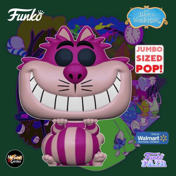 Funko Pop! Disney: Alice in Wonderland 70th Anniversary - Cheshire Cat 10-Inch Jumbo Sized Funko Pop! Vinyl Figure - Walmart Exclusive