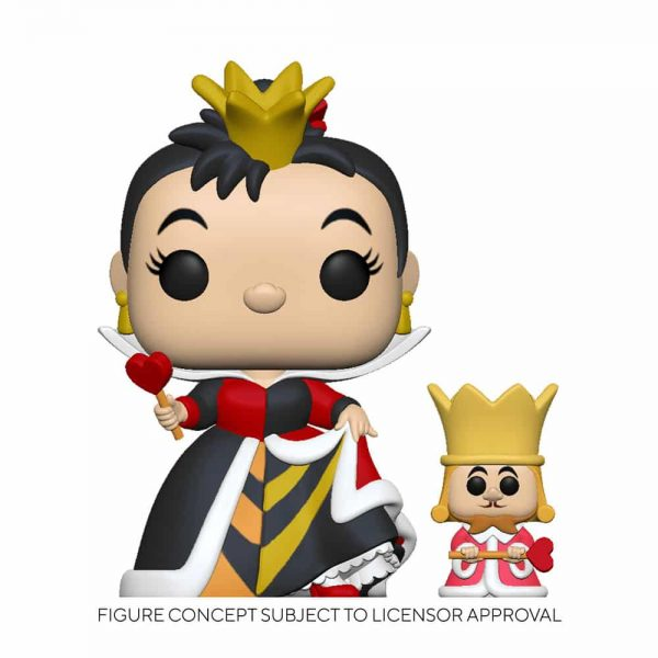 Funko Pop! Disney Alice in Wonderland 70th Anniversary - Queen of Hearts with King Funko Pop! Vinyl Figure