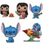 Funko Pop! Disney: Lilo & Stitch - Stitch with Ukulele, Stitch in Rocket, Lilo with Pudge, Lilo with Scrump, and Smiling Seated Stitch Funko Pop! Vinyl Figures - Funko Fair 2021