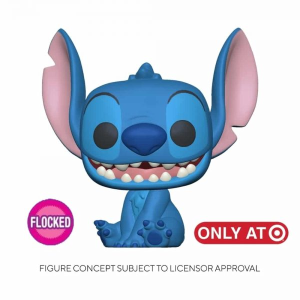 Funko Pop! Disney Lilo & Stitch - Smiling Stitch Seated Flocked Funko Pop! Vinyl Figure - Target Exclusive