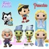 Funko Pop! Disney: Pinocchio - Street Jiminy Cricket, Figaro Kissing Cleo, Blue Fairy With Glitter Chase Variant, Pinocchio School Bound, Geppetto with Accordion and Street Jiminy Cricket Diamond Collection (Bam Exclusive) Funko Pop! Vinyl Figures - Funko Fair 2021