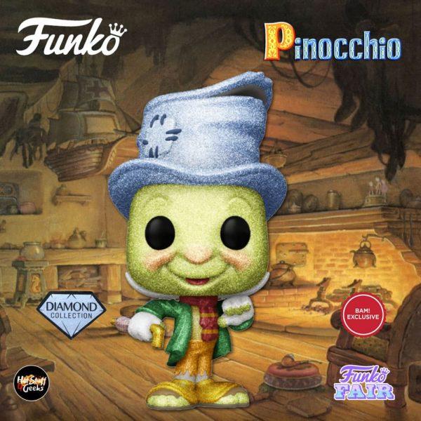 Funko Pop! Disney Pinocchio - Street Jiminy Cricket Diamond Collection Funko Pop! Vinyl Figure - BAM Exclusive