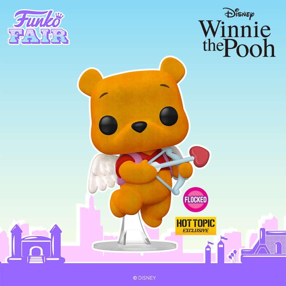 Funko Pop! Disney: Winnie The Pooh - Valentine Winnie The Pooh Flocked Funko Pop! Vinyl Figure - Hot Topic Exclusive