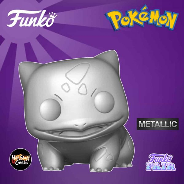 Funko Pop! Games: Pokemon - Bulbasaur S6 Silver Metallic Funko Pop! Vinyl Figure