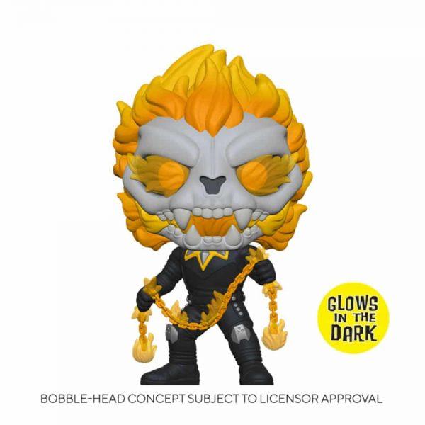 Funko Pop! Marvel Infinity Warps - Ghost Panther With Chain Glow-In-The-Dark (GITD) Funko Pop! Vinyl Figure - GameStop Exclusive