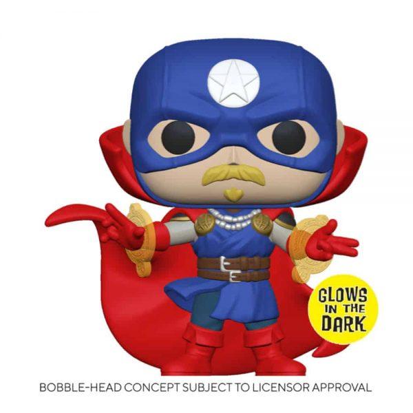Funko Pop! Marvel: Infinity Warps - Soldier Supreme Glow-In-The-Dark (GITD) Funko Pop! Vinyl Figure - Amazon Exclusive