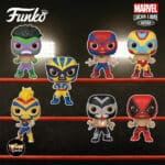 Funko Pop! Marvel Luchadores (Lucha Libre) - El Furioso Hulk, El Animal Indestructible Wolverine, El Aracno Spider-Man, El Venenoide Venom, La Estrella Cosmica Captain Marvel, El Chimichanga De La Muerte Deadpool and El Heroe Iron Man Funko Pop! Vinyl Figures