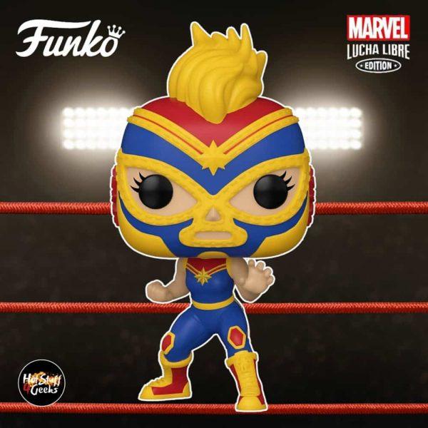 Funko Pop! Marvel Luchadores (Lucha Libre) - La Estrella Cosmica Captain Marvel Funko Pop! Vinyl Figure
