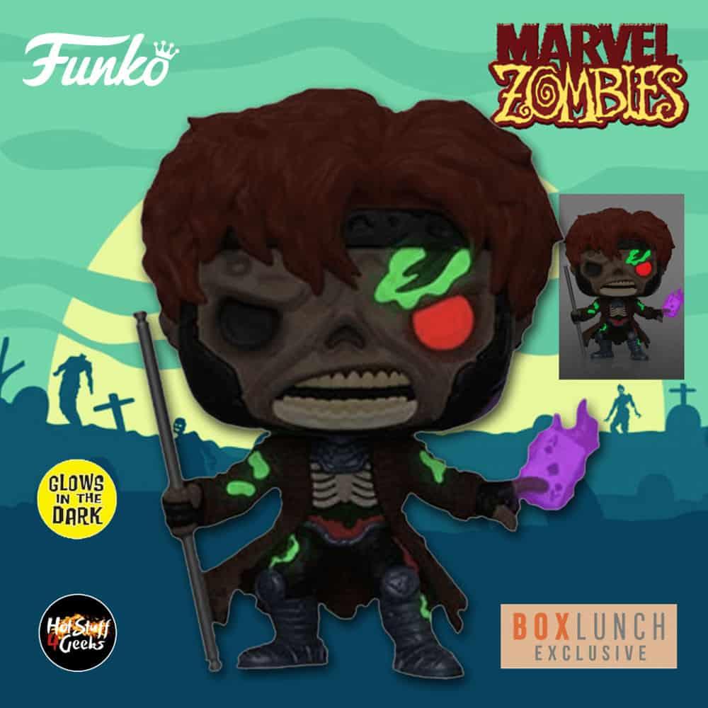 Funko Pop! Marvel Zombies: Zombie Gambit Glow-In-The-Dark (GITD) Funko Pop! Vinyl Figure - BoxLunch Exclusive