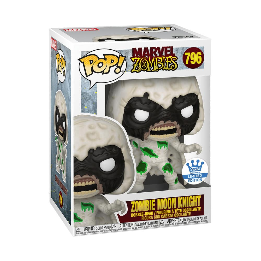Funko Pop! Marvel Zombies: Zombie Moon Knight Funko Pop! Vinyl Figure - Funko Shop Exclusive